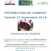 Distribution gratuite de compost - 22 septembre 2018